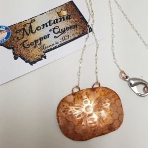 "Jewelry - Signed ""The Hive""Bee Montana Copper Queen Necklace"